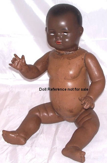 "Recknagel Character Baby black doll, 20"" tall"