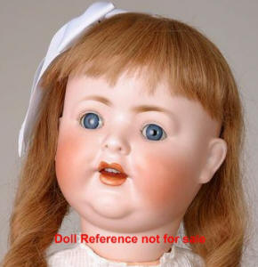 "Character baby doll, #169, 25"" tall"