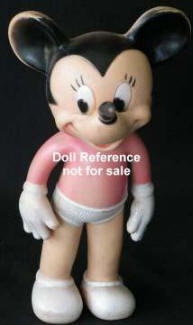 ca. 1946 Sun Rubbber Mickey Mouse doll